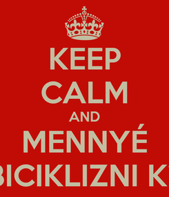 Poster: KEEP CALM AND MENNYÉ BICIKLIZNI K?