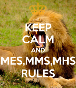 Poster: KEEP CALM AND MES,MMS,MHS RULES