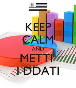 Poster: KEEP CALM AND METTI  I DDATI