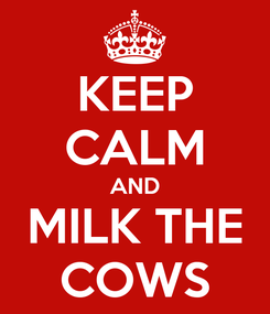 Poster: KEEP CALM AND MILK THE COWS