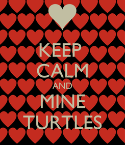 Poster: KEEP  CALM AND MINE TURTLES