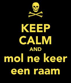 Poster: KEEP CALM AND mol ne keer een raam