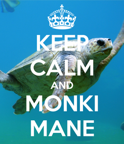 Poster: KEEP CALM AND MONKI MANE