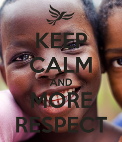 Poster: KEEP CALM AND MORE RESPECT