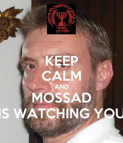 Poster: KEEP CALM AND MOSSAD IS WATCHING YOU