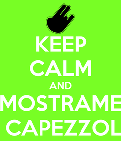 Poster: KEEP CALM AND MOSTRAME I CAPEZZOLI