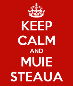 Poster: KEEP CALM AND MUIE STEAUA