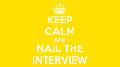 Poster: KEEP CALM AND NAIL THE INTERVIEW
