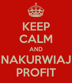 Poster: KEEP CALM AND NAKURWIAJ PROFIT