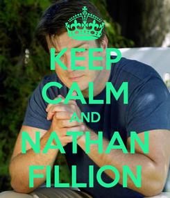 Poster: KEEP CALM AND NATHAN FILLION