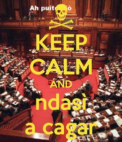 Poster: KEEP CALM AND ndasì a cagar