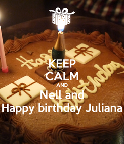 Poster: KEEP CALM AND Nell and Happy birthday Juliana