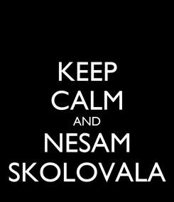 Poster: KEEP CALM AND NESAM SKOLOVALA