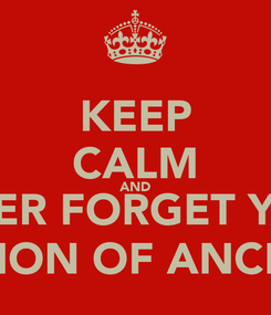 Poster: KEEP CALM AND NEVER FORGET YOUR VISION OF ANCLAS