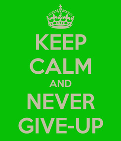 Poster: KEEP CALM AND NEVER GIVE-UP