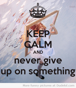 Poster: KEEP CALM AND never give up on something