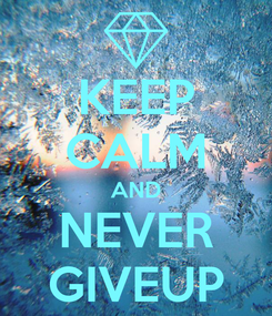 Poster: KEEP CALM AND NEVER GIVEUP