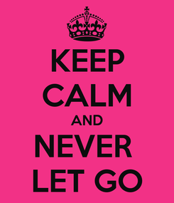 Poster: KEEP CALM AND NEVER  LET GO