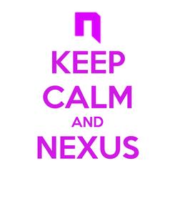 Poster: KEEP CALM AND NEXUS