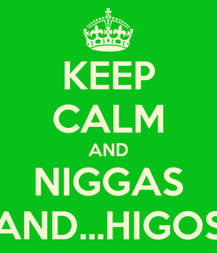 Poster: KEEP CALM AND NIGGAS AND...HIGOS