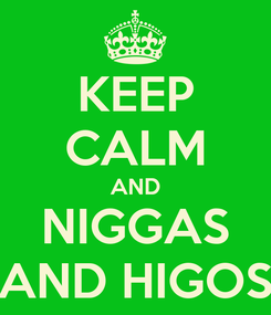 Poster: KEEP CALM AND NIGGAS AND HIGOS