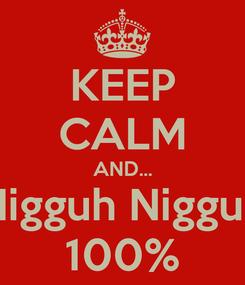 Poster: KEEP CALM AND... Nigguh Nigguh 100%