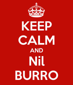 Poster: KEEP CALM AND Nil BURRO