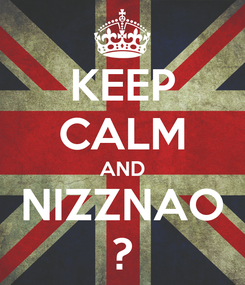 Poster: KEEP CALM AND NIZZNAO ?