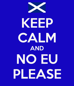 Poster: KEEP CALM AND NO EU PLEASE