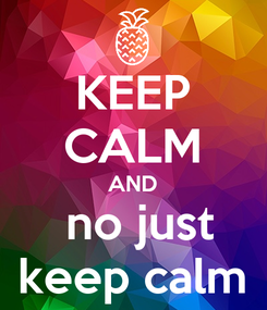 Poster: KEEP CALM AND  no just keep calm