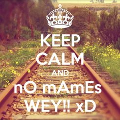 Poster: KEEP CALM AND nO mAmEs  WEY!! xD