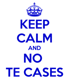 Poster: KEEP CALM AND NO  TE CASES