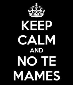 Poster: KEEP CALM AND NO TE MAMES