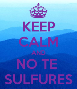 Poster: KEEP CALM AND NO TE  SULFURES