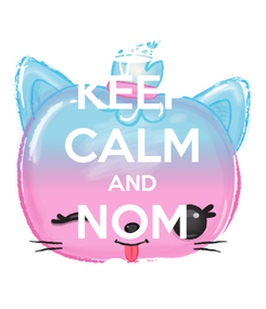Poster: KEEP CALM AND NOM ON