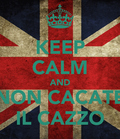 Poster: KEEP CALM AND NON CACATE IL CAZZO
