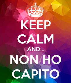 Poster: KEEP CALM AND... NON HO CAPITO