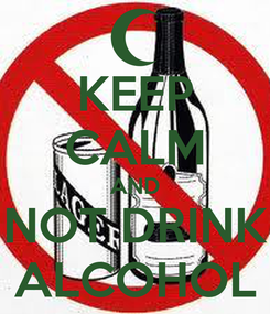 Poster: KEEP CALM AND NOT DRINK ALCOHOL