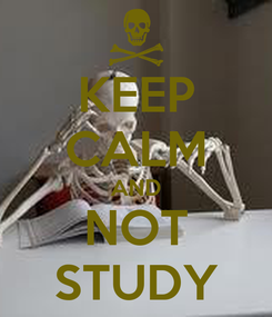 Poster: KEEP CALM AND NOT STUDY