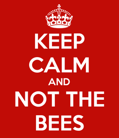Poster: KEEP CALM AND NOT THE BEES