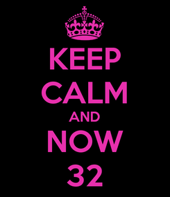 Poster: KEEP CALM AND NOW 32