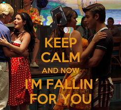 Poster: KEEP CALM AND NOW  I'M FALLIN´ FOR YOU