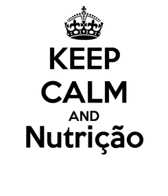 Poster: KEEP CALM AND Nutrição