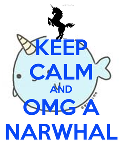 Poster: KEEP CALM AND OMG A NARWHAL