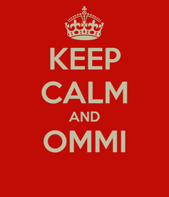 Poster: KEEP CALM AND OMMI