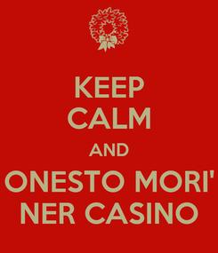 Poster: KEEP CALM AND ONESTO MORI' NER CASINO