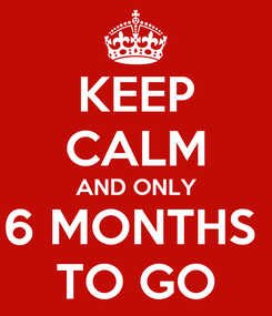 Poster: KEEP CALM AND ONLY 6 MONTHS  TO GO
