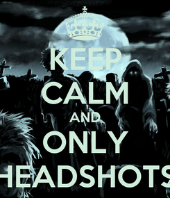 Poster: KEEP CALM AND ONLY HEADSHOTS