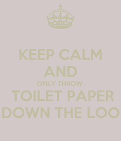 Poster: KEEP CALM AND ONLY THROW   TOILET PAPER DOWN THE LOO