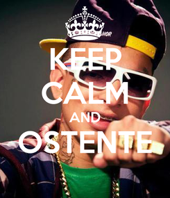 Poster: KEEP CALM AND OSTENTE